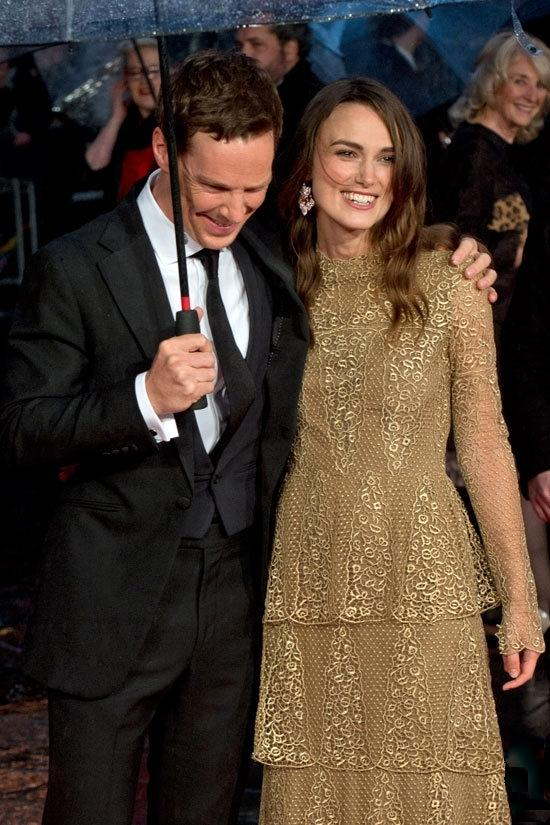 "Benedict Cumberbatch and Keira Knightley attends the London Film Festival Opening Gala screening of ""The Imitation Game"" at the Odeon Leicester Square in London"