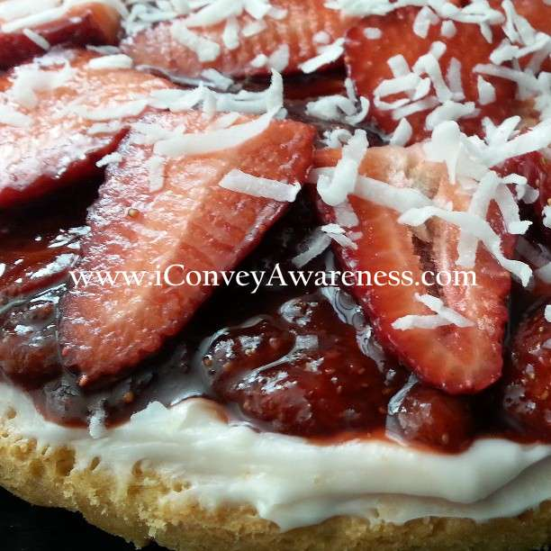 Strawberry Dessert Pizza Recipe — Dishmaps