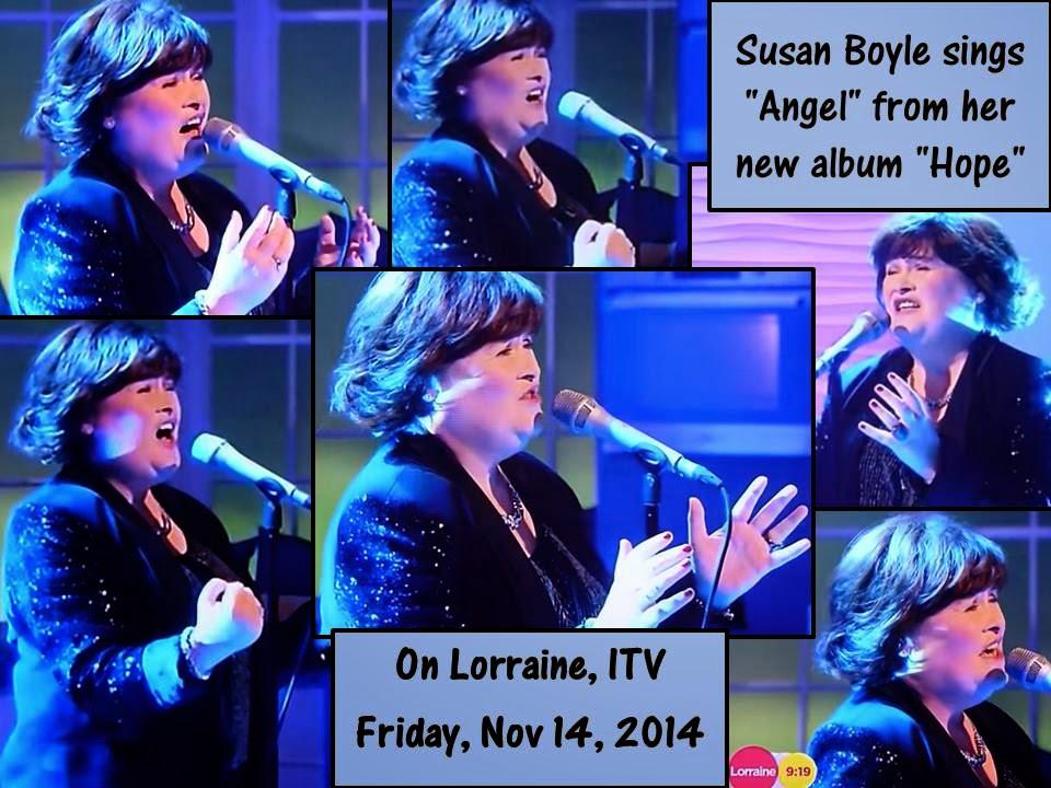 Susan Boyle on ITV, Lorraine, Nov 14,  2014
