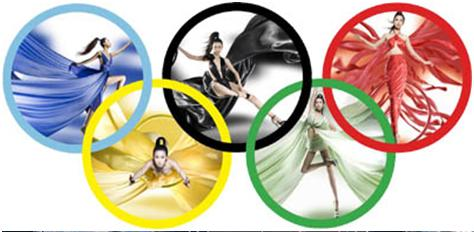 los colores de las olimpiadas: