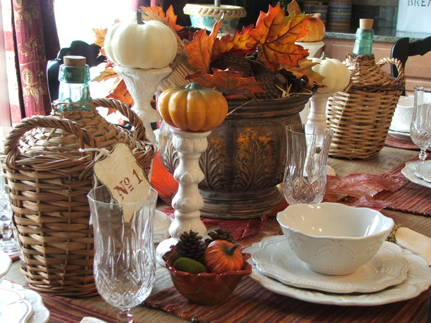 Modern Furniture Thanksgiving Table Settings Decoration