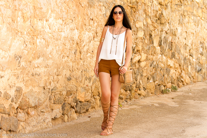 Suede Shorts and Gladiator Sandals | With Or Without Shoes - Blog ...