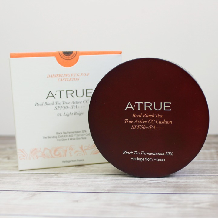 ATRUE Real Black Tea True Active CC Cushion SPF50+ PA+++