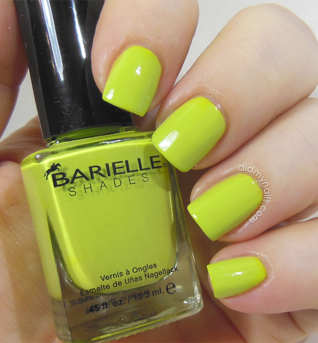 Barielle Green Apple Chew swatch
