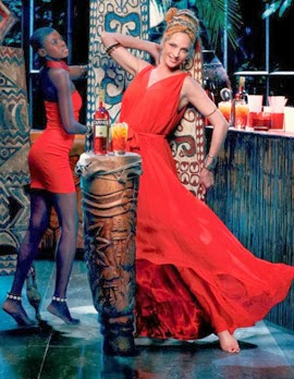 calendario Campari 2014 Febrero Uma Thurman