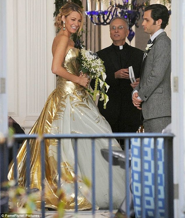 Gossip Girl Serena Wedding Dress: Affordable Wedding Dresses - Gold