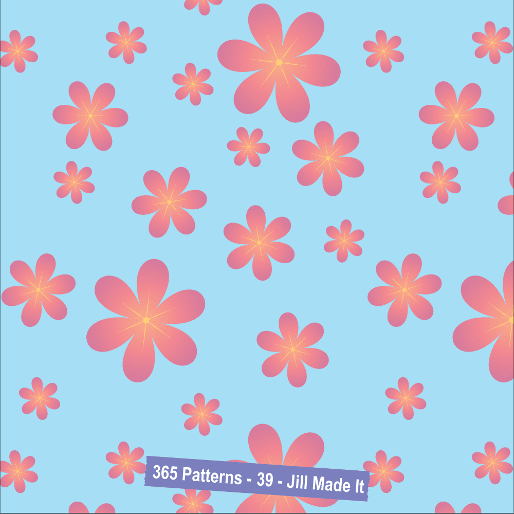 Easter Patterns:  Pink Flowers | Jill Made It