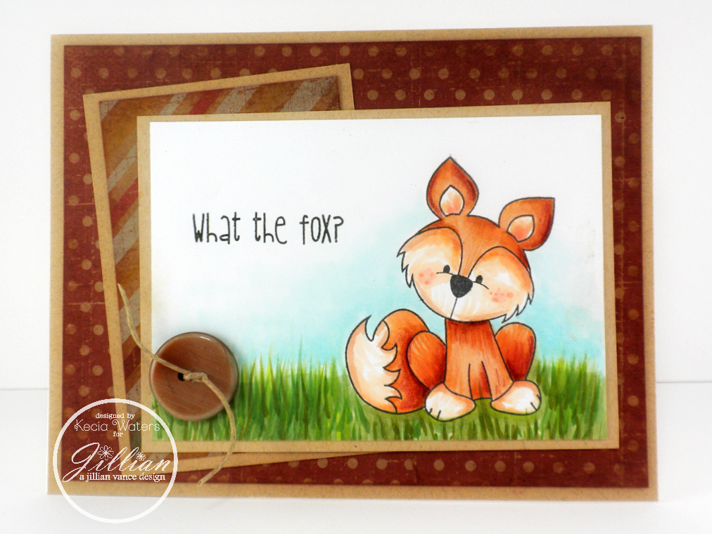 A Jillian Vance Design, Whimsie Doodles, Kecia Waters, Copic markers, fox