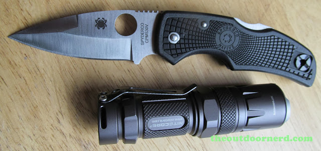 Nitecore SRT3 Defender EDC Flashlight: With Spyderco Native