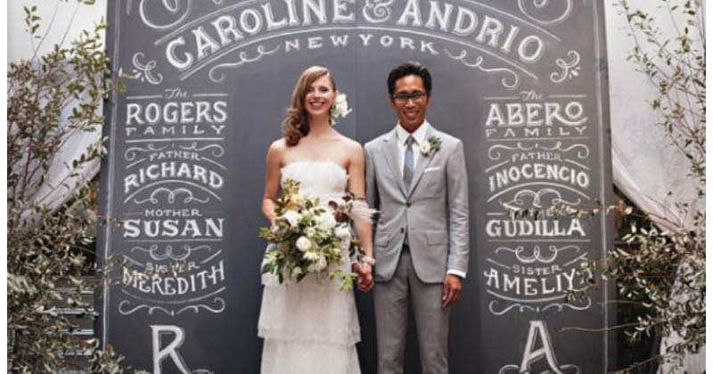 Easy DIY Idea For Your Wedding: Blackboard Paint