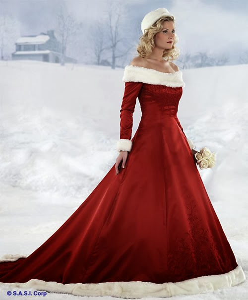 Red wedding dresses and red bridal gowns black models picture