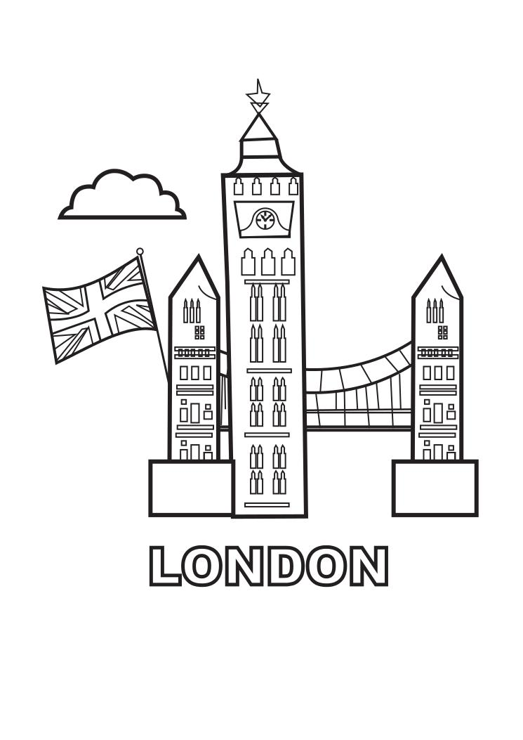 London Coloring Page Child Coloring