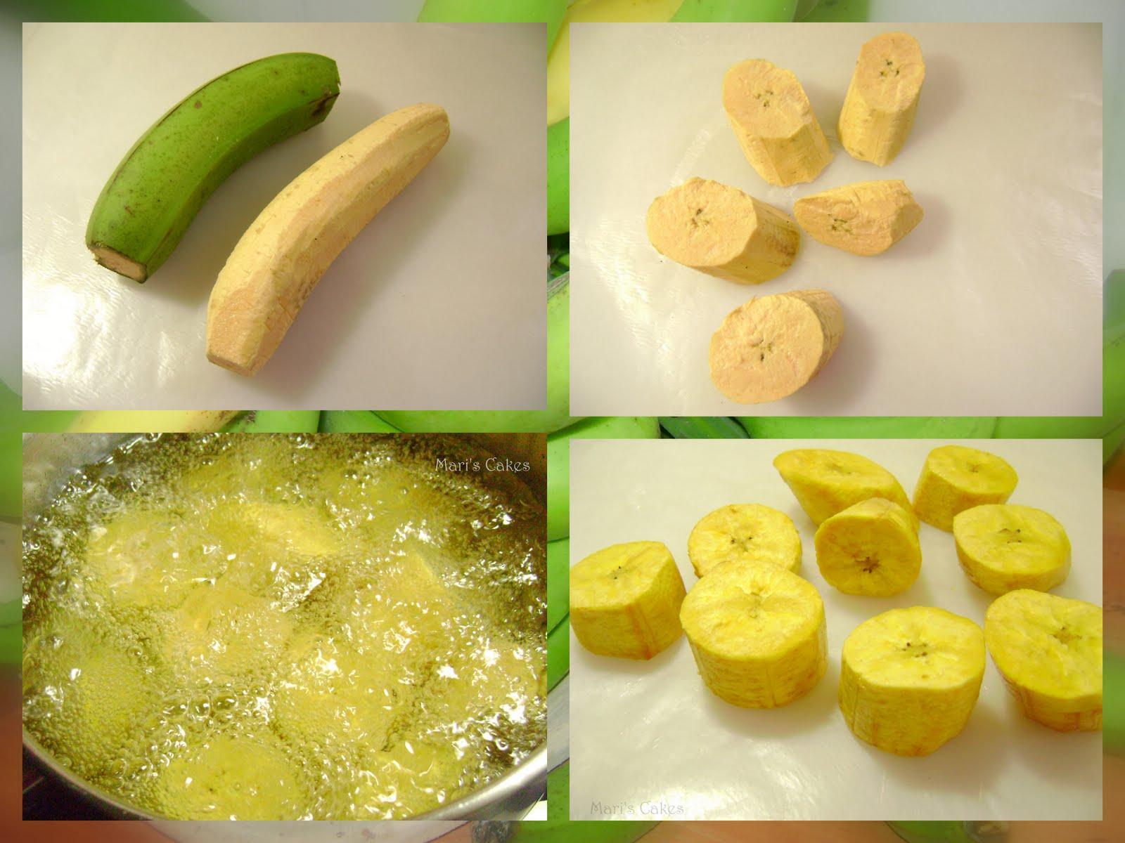 Fried Green Plantains, TOSTONES | Mari's Cakes (English)