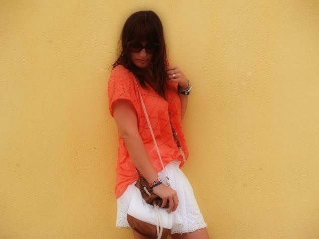 Orange flúor & slippers