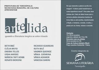 Exposição Arte Lida aberta na Casa de Cultura de Teresópolis