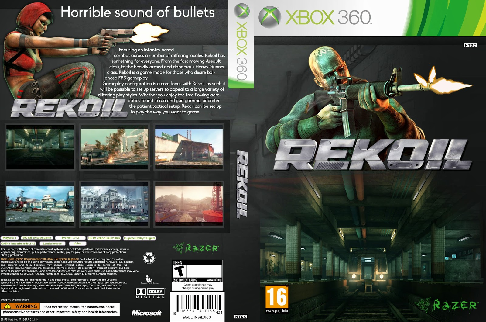 Capa Rekoil Xbox 360