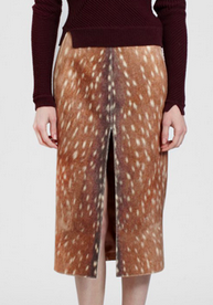 Carven Bambi animal print pencil skirt FW13