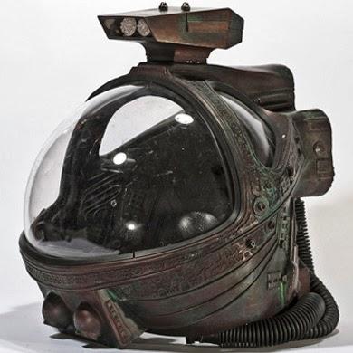 Cascos de los trajes espaciales de Alien: el Octavo pasajero