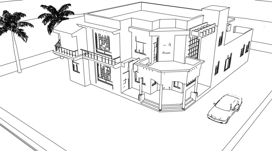 Line Drawing Render 3ds Max : Rendering with hidden lines