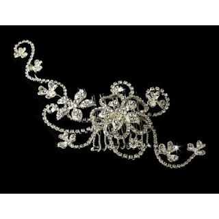 Bridal Comb Headpiece Couture Rhinestone Hair Comb
