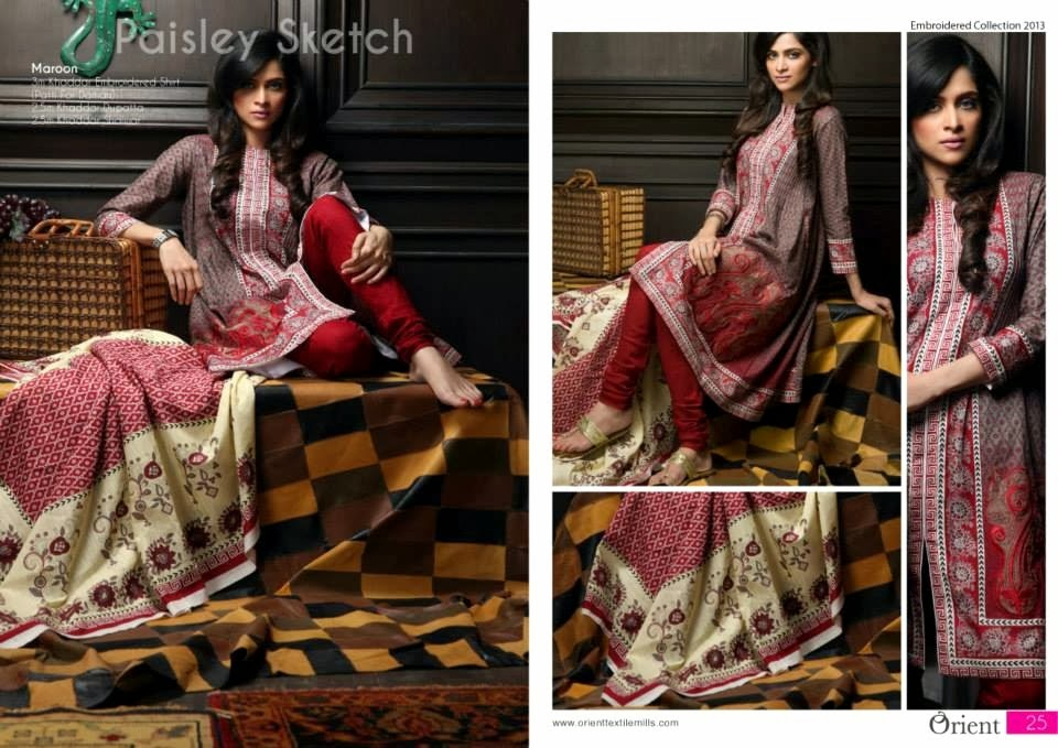 OrientTextilesKashmiriKhaddarCollection2013Vol2 wwwfashionhuntworldblogspotcom 018 - Orient Textiles Kashmiri  Fall/Winter Collection 2013 vol 2
