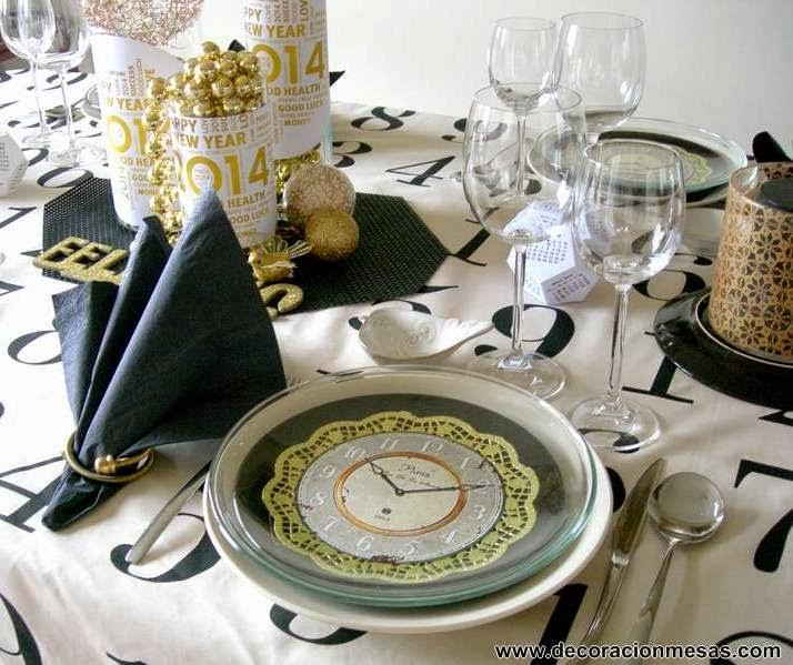 Decoracion de mesas mesa nochevieja a o nuevo - Decoracion fin de ano ...