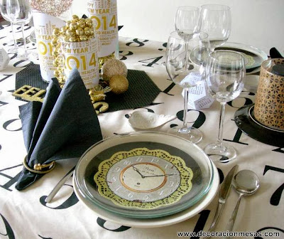 Decoracion mesa Nochevieja servilleta