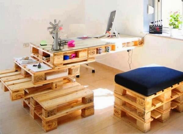 Mesas con Palets Reciclados