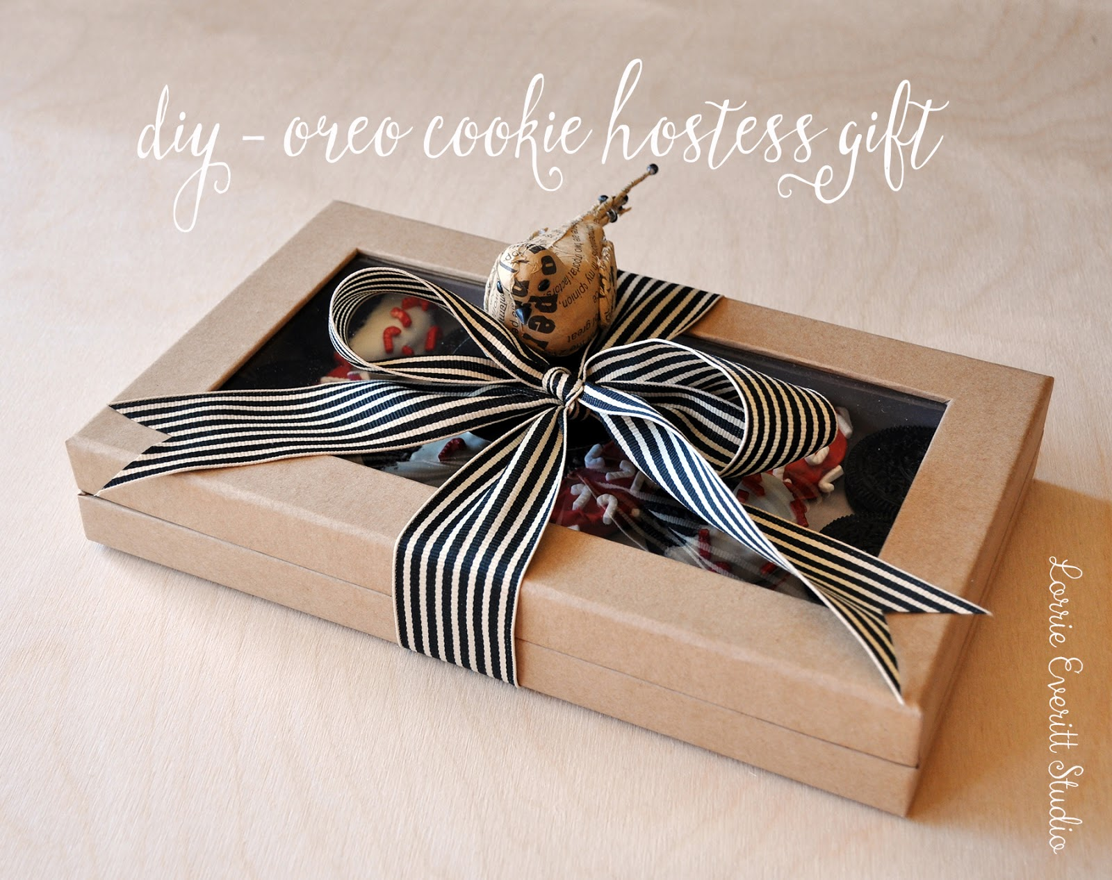 diy oreo cookie hostess gift