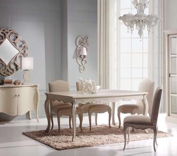 mesa rectangular y sillas con respaldo acolchado para On para crear un comedor rectangular