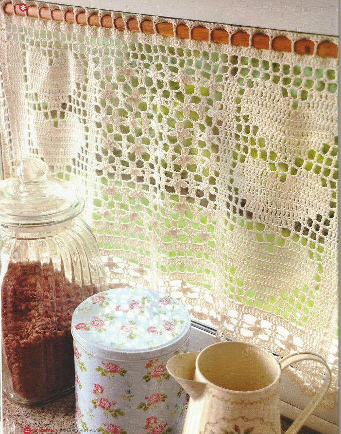 cortinas a crochet - 28 images - 24 patrones de cortinas de ...