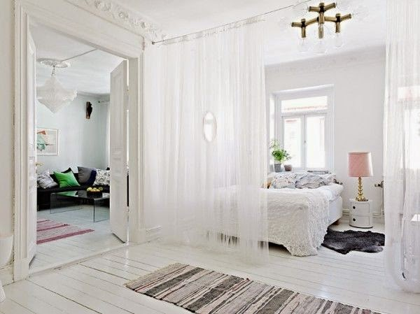 Curtain Room Divider Ideas Beautiful White Sheer Curtain As Room Divider