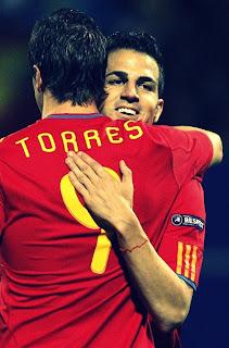 Fernando Torres y cesc Fábregas