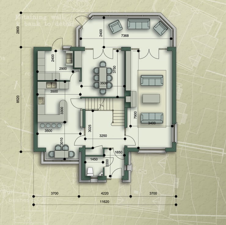 Duplex house ground first floor plans and elevation view for Ground floor 3d elevation