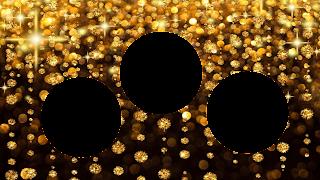 Moldura Ouro-3 fotos_redondas_16x9