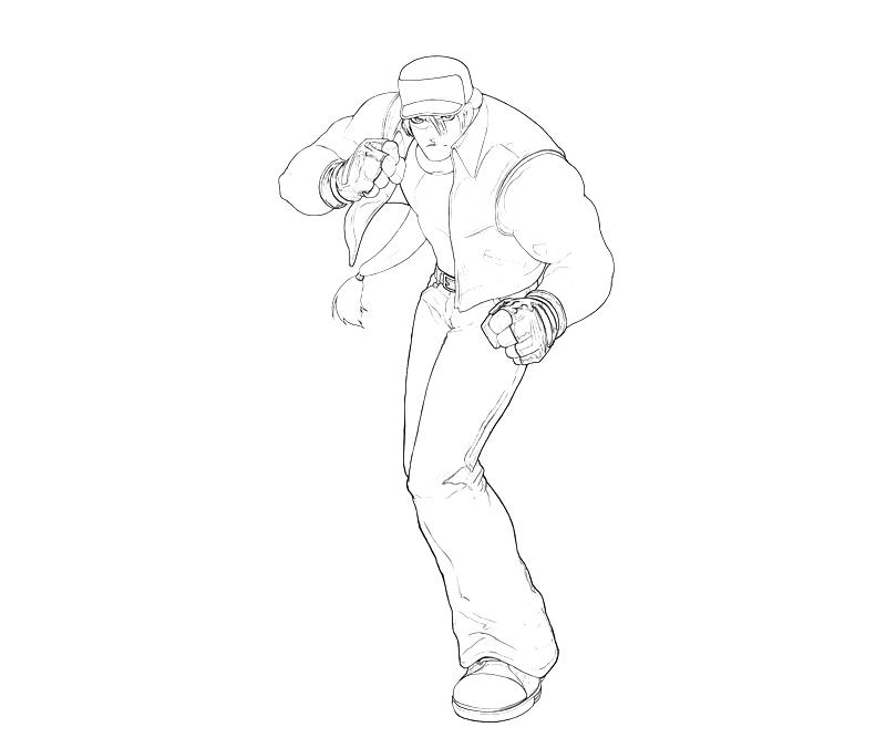 printable-king-of-fighters-terry-bogard-ready-coloring-pages