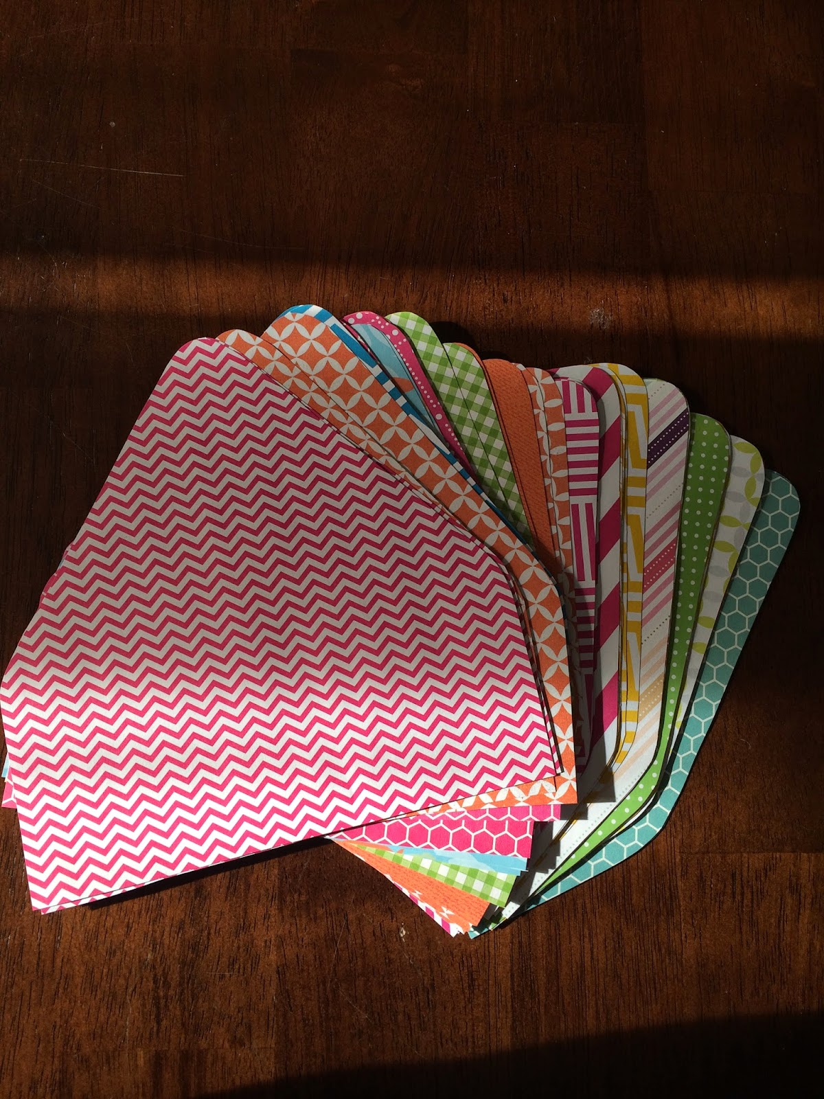 Doeblerghini Bunch:  Envelope Liner - Liners cut up in a pile