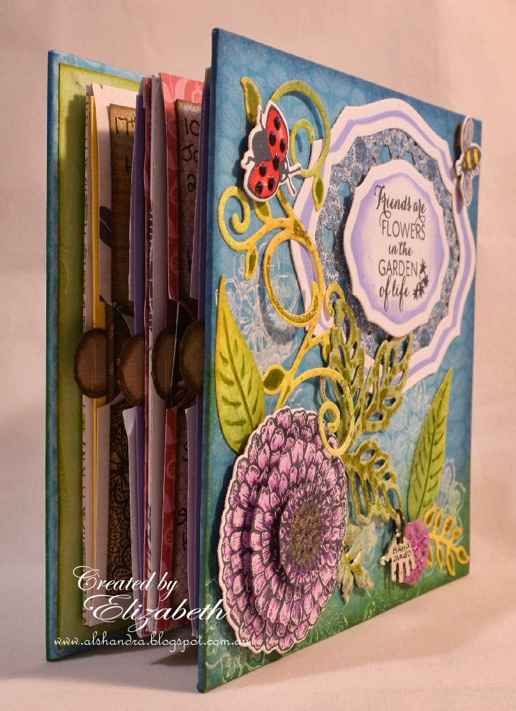 Elizabeth Whisson, mini accordian album, mini album, Our Daily Bread Designs, ODBD, album