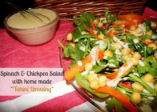 home made salad dressing, chickpea salad, tahini salad dressing, salad recipe