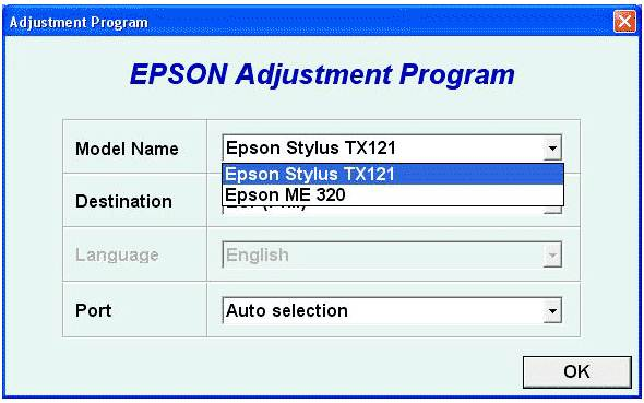 EPSON ME320 Resetter Download