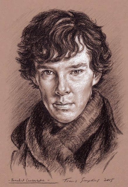 Benedict Cumberbatch as Sherlock Holmes. Sir Arthur Conan Doyle. by Travis Simpkins