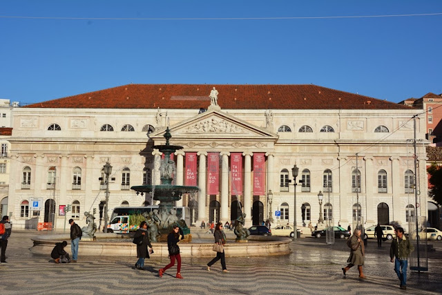 Rossio Square Lisbon National Theatre