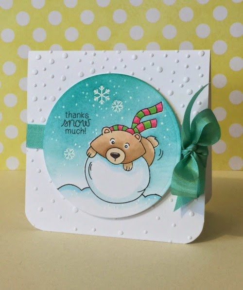 Snow Bear Card by Donna Mikasa for Newton's Nook Designs | Winter Tails Stamp Set