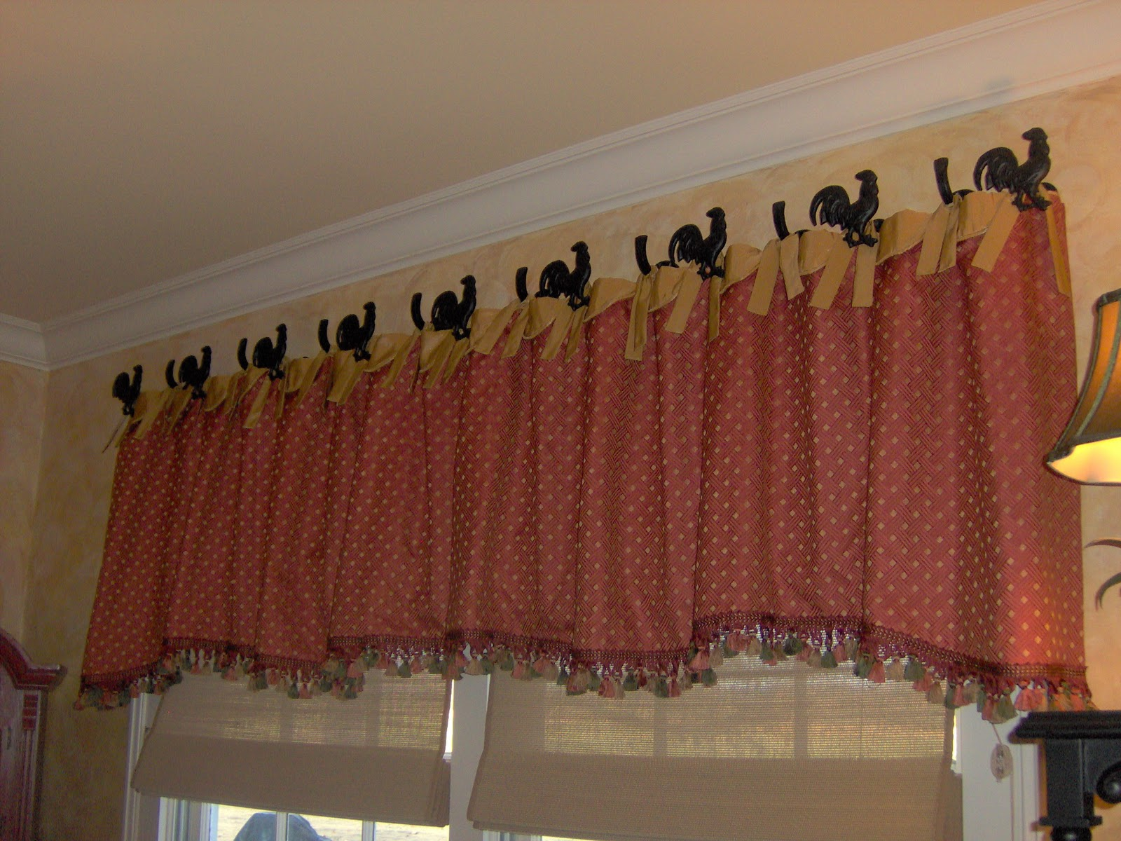Red kitchen curtains and valances -  B59316 Kitchen Valances For Windows Light Sheer Curtains With Toile Valances Country Kitchen Window Curtains