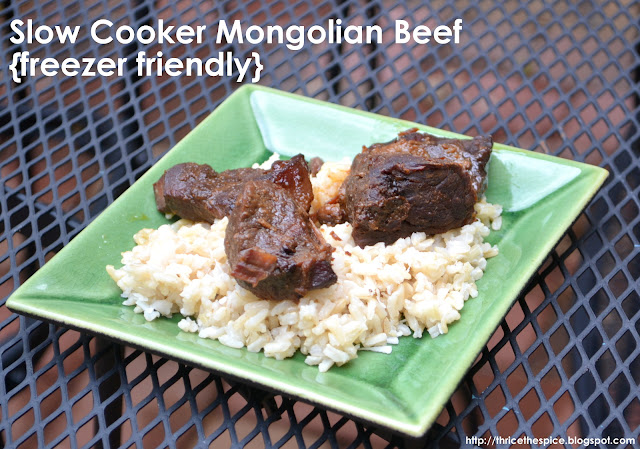 ThriceTheSpice: Slow Cooker Mongolian Beef (freezer friendly)