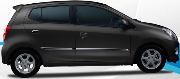 mobil ayla warna hitam | Ultra Black Solid