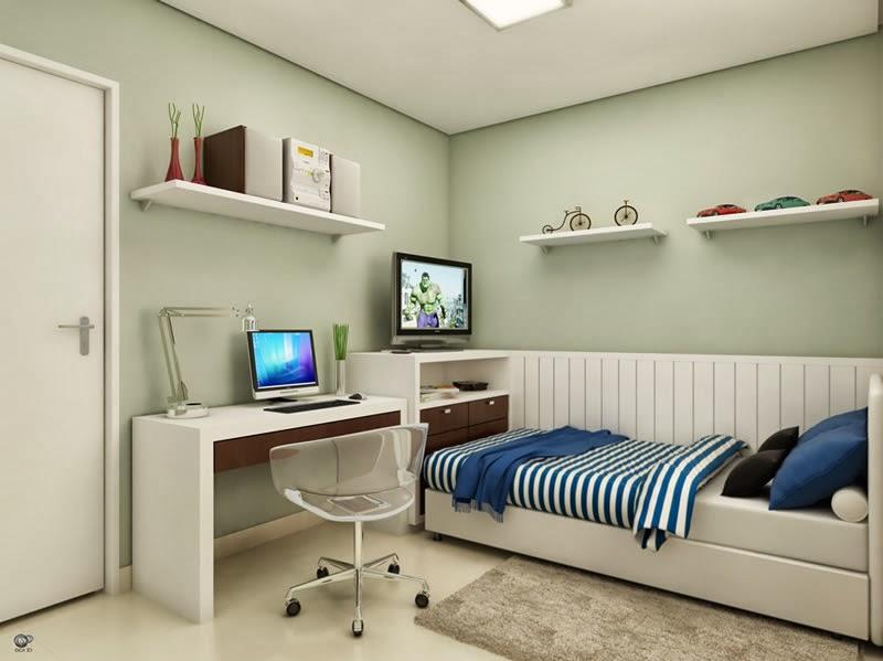 Bricolage e Decoração Decorações para Quartos de Rapaz  ~ Quarto Solteiro Clean