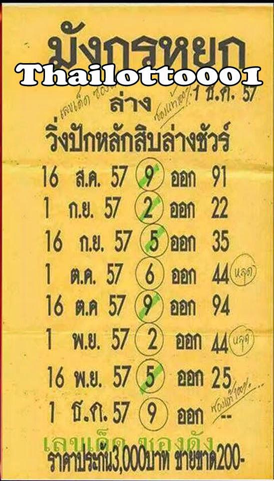 Single sure for 01 12 2014 draw thai lotto 001 lottery vip win tips