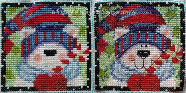 """Вышивка фирмы """"Dimensions""""- """"Christmas Pals Ornaments""""/""""Рождественские друзья"""" - Белый медведь"""