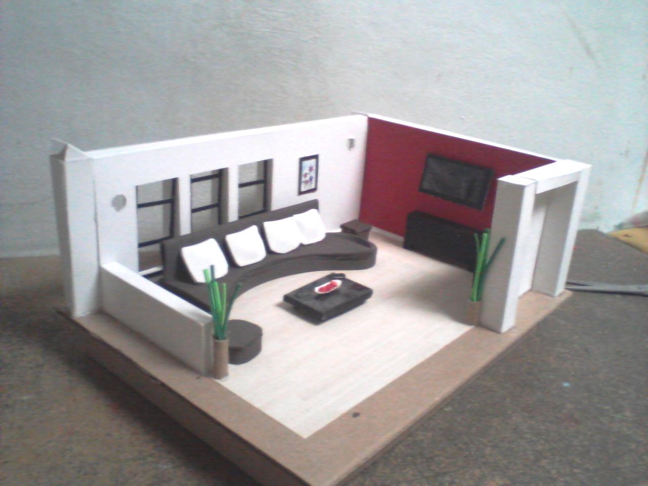 Como Hacer Una Sala De Estar Lego ~ MAQUETAS, DIBUJOS Y DISEÑOS maquetas INMUEBLES